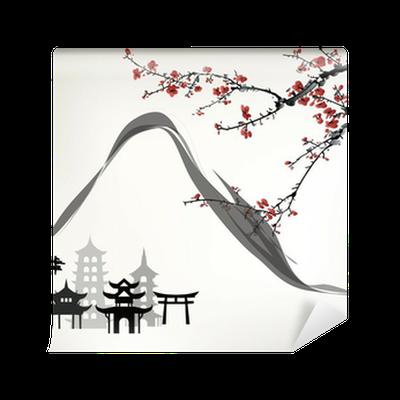 papier peint chalet de montagne pixers nous vivons pour changer. Black Bedroom Furniture Sets. Home Design Ideas