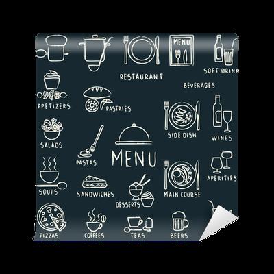 papier peint chalk restaurant menu tir es des l ments de conception sur tableau noir pixers. Black Bedroom Furniture Sets. Home Design Ideas