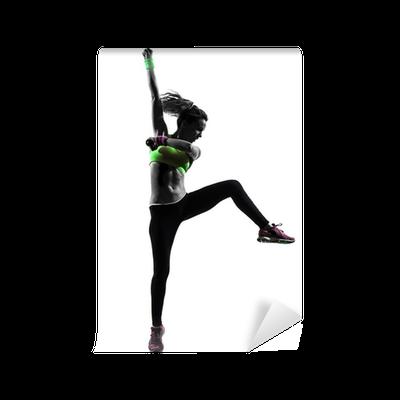 Papier peint Femme exerçant Zumba Fitness silhouette de danse • Pixers® -  Nous vivons pour changer a4446ad046c