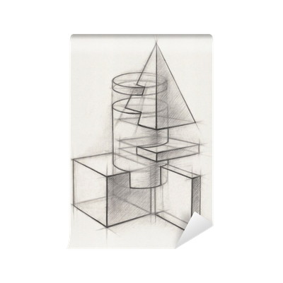 papier peint formes g om triques solides pixers nous vivons pour changer. Black Bedroom Furniture Sets. Home Design Ideas