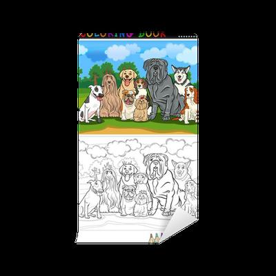 Coloriage Chien Lhassa Apso.Papier Peint Les Chiens De Race Dessin Anime Pour Livre De Coloriage