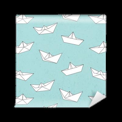 papier peint mod le de bateau de papier pixers nous vivons pour changer. Black Bedroom Furniture Sets. Home Design Ideas
