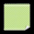 Papier peint vinyle Patron transparente à pois sur fond vert