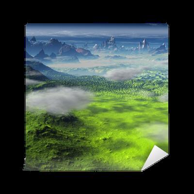 Papier peint paysage d 39 imagination cr ation de l for Papier peint pour ordinateur