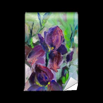 Papier peint peinture nature morte peinture l 39 huile - Papier pour peinture huile ...