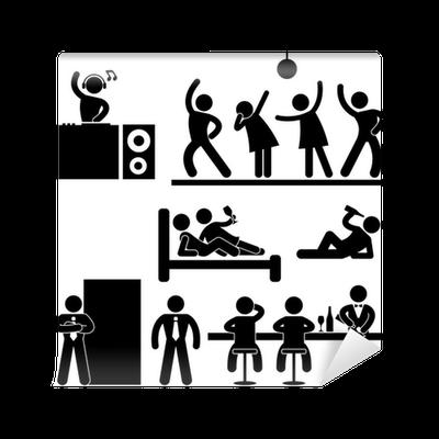 Papier Peint Pub Disco Night Club Bar Parti Icone Connexion Pictogramme Symbole Pixers Nous Vivons Pour Changer