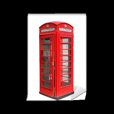 papier peint stand british classic t l phone rouge. Black Bedroom Furniture Sets. Home Design Ideas