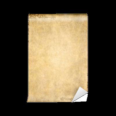 Papier peint Texture vieux papier parchemin avec un design fleuri • Pixers® - Nous vivons pour ...