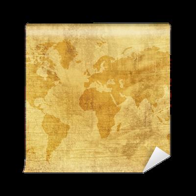 Papier peint vielle mappemonde pixers nous vivons - Papier peint mappemonde ...
