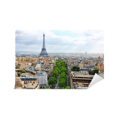 papier peint vue de paris depuis l 39 arc de triomphe paris france pixers nous vivons pour. Black Bedroom Furniture Sets. Home Design Ideas