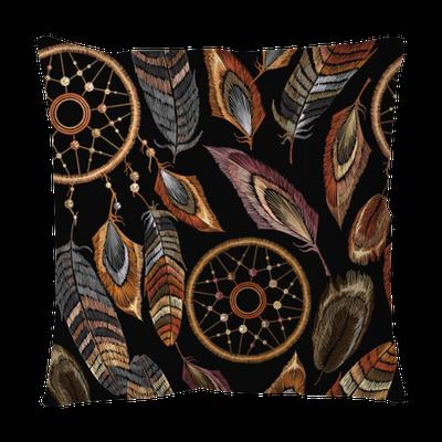 Embroidery Dreamcatcher Boho Seamless Pattern Native