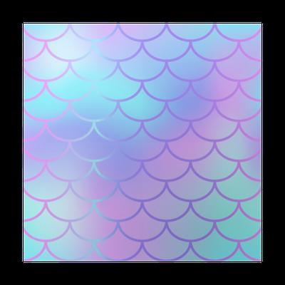 0368cc45 Plakat Kule blå fisk skala mønster vektor tekstur. havfrue sømløs mønster  fliser. • Pixers® - Vi lever for forandring