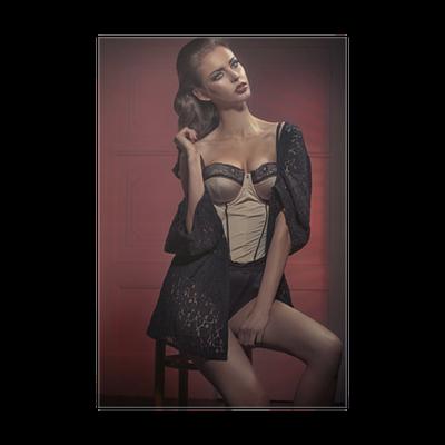 19aab02db Plakát Krásná mladá dáma na sobě erotické prádlo • Pixers® • Žijeme pro  změnu