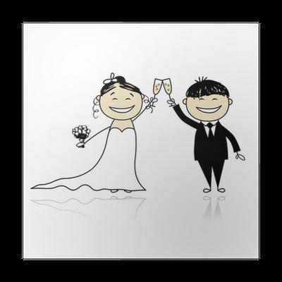 Poster Cerimonia Di Nozze Sposa E Lo Sposo Insieme Per Il Vostro