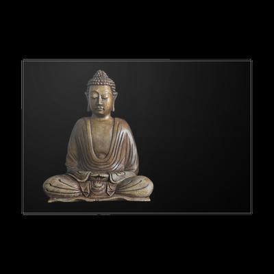 Poster holz buddha statue pixers wir leben um zu for Buddha statue holz