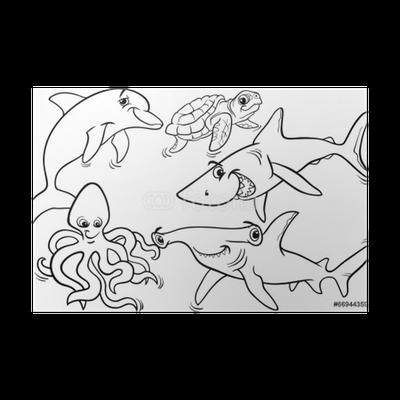 unterwassertiere malvorlagen m - zeichnen und färben