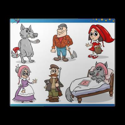 Poster Piccoli Personaggi Cappuccetto Rosso Pixers Viviamo Per