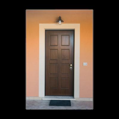 Poster Porta di legno ingresso di casa • Pixers® - Wir leben, um zu ...