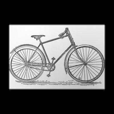 Poster Velocipede Bicicletta Vintage Engraving Pixers Viviamo