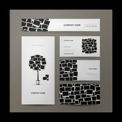 Poster Visitenkarten Design Digitale Bilderrahmen Pixers Wir Leben Um Zu Verändern