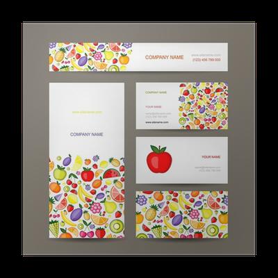 Poster Visitenkarten Design Obst Hintergrund Pixers Wir Leben Um Zu Verändern