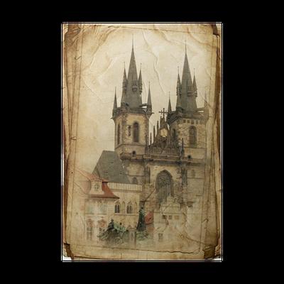 Выходных, старые открытки старой праги