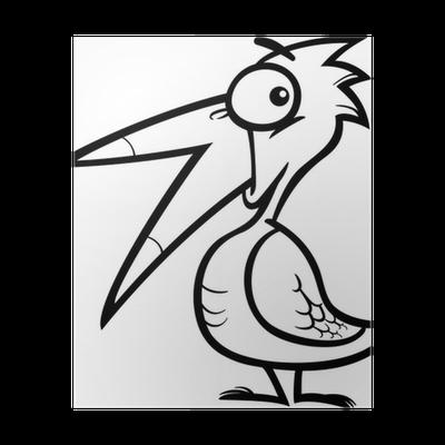 Boyama Kitabı Için Küçük Kuş Karikatür Poster Pixers Haydi