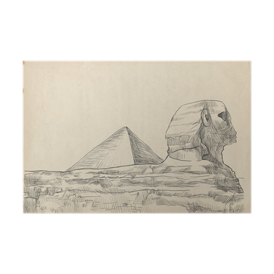 An Hand Drawn Illustration Pyramid Sphinx Poster Pixers We Live To Change
