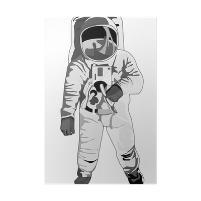 astronaut standing halftone dots Poster • Pixers® • We live to change