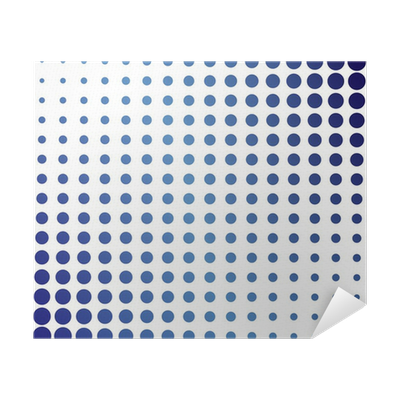 Blue Halftone Dots Poster • Pixers® • We live to change