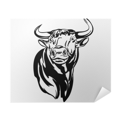 Bull Vector Llustration Realistic Sketch Poster Pixers We Live To Change