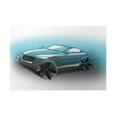 Design Sporty Exterior Car Is Drawing Brush Color Painting Vehicle Is Dynamics And Sports Sketch Is Sketched With Lights Lines And Luxurious Curves Poster Pixers We Live To Change