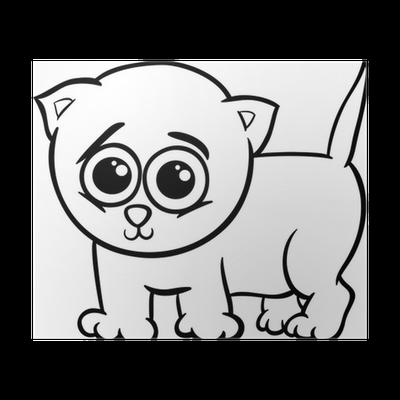 Póster Gatito del bebé para colorear de dibujos animados • Pixers ...