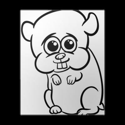Póster Hámster bebé para colorear de dibujos animados • Pixers ...