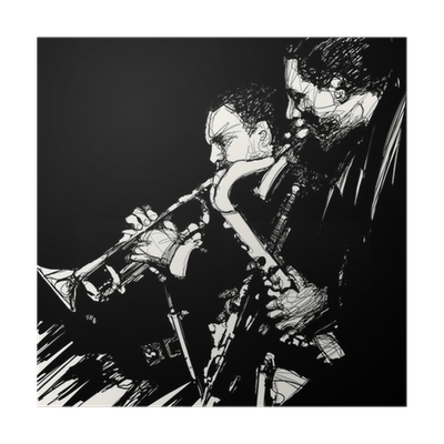 Jazz brass musician poster • pixers • we live to change