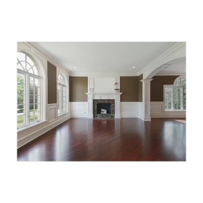Living Room With Cherry Wood Flooring Poster Pixers We Live To