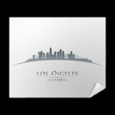 los angeles california city skyline silhouette white background