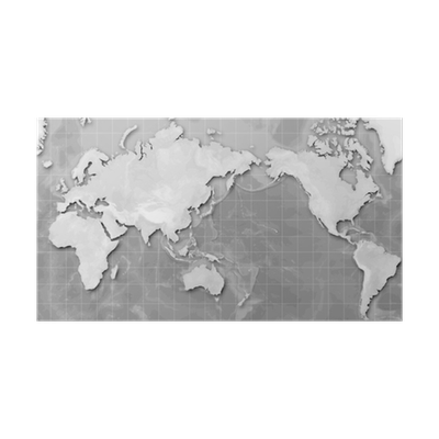 Mercator world map japan centred poster pixers we live to change publicscrutiny Images