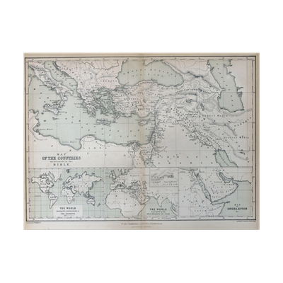old map of countries mentioned in the bible 1870 poster pixers we live to change