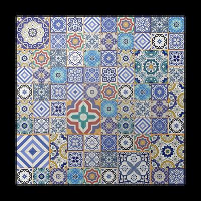 P ster patr n de mosaico sin fisuras mega azulejos for Azulejos pvc autoadhesivos