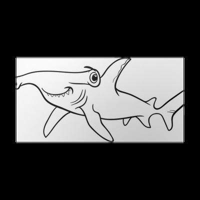Poster requin marteau livre de coloriage pixers nous - Dessin de marteau ...