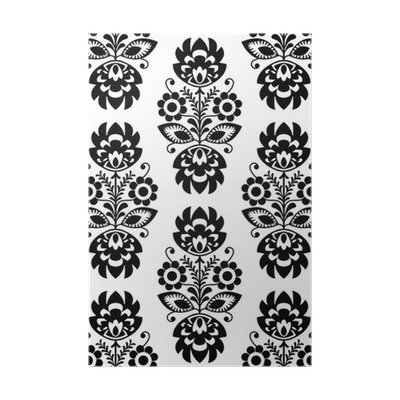 Seamless Traditional Floral Polish Pattern Ethnic