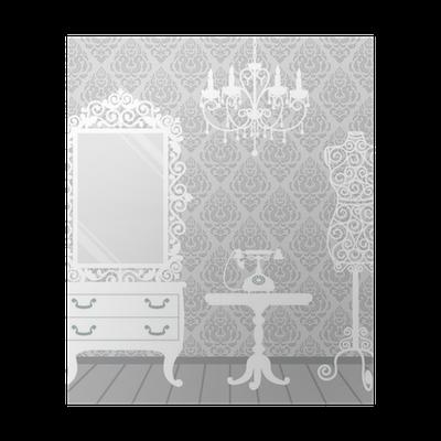 Poster Vrouw kamer in vintage, boudoir stijl • Pixers® - We leven om ...