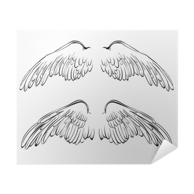 Wings Sketch Collection Cartoon Vector Illustration Poster Pixers We Live To Change