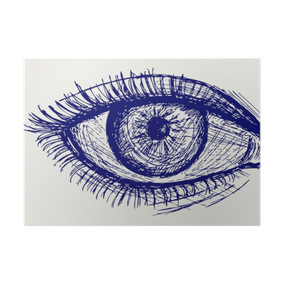 Woman Eye Sketch Poster Pixers We Live To Change