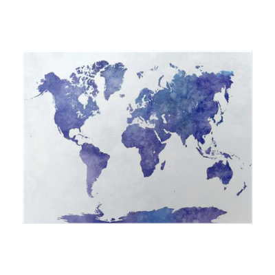 World map in watercolor poster pixers we live to change gumiabroncs Images
