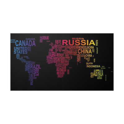 world map with country name Poster • Pixers® • We live to change