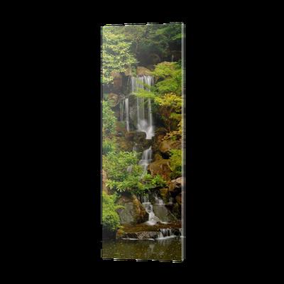 Japanese Gardens Waterfall In Portland Oregon Pvc Print