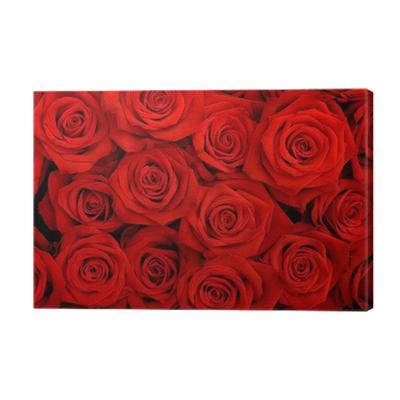Quadro su tela grande mazzo di rose rosse pixers for Quadri con rose rosse