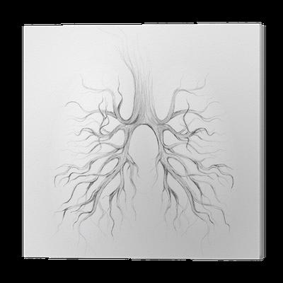Quadro Em Tela Tree Lungs Of The Earth Realistic Sketch Pixers Vivemos Para Mudar